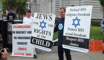 Manifestants juifs contre la circoncision