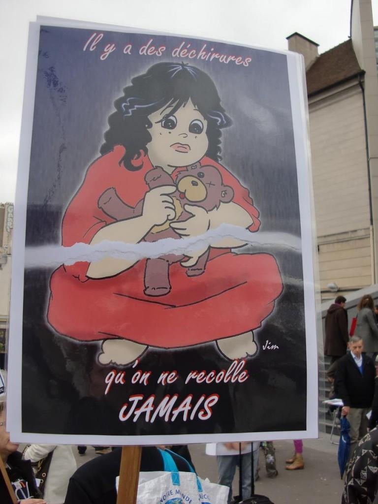 Manifestation contre l'inceste et la pédocriminalité