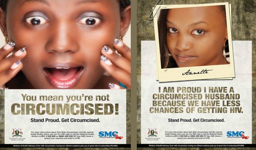 Publicité pour la circoncision masculine en Ouganda