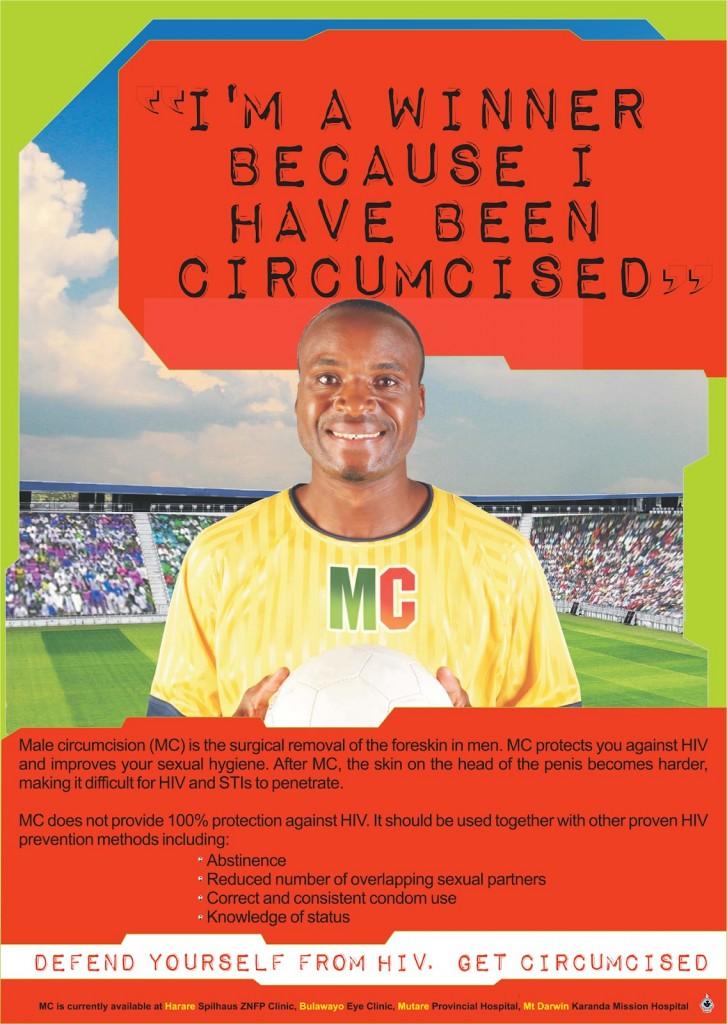 Propagande pour la circoncision masculine au Zimbabwe