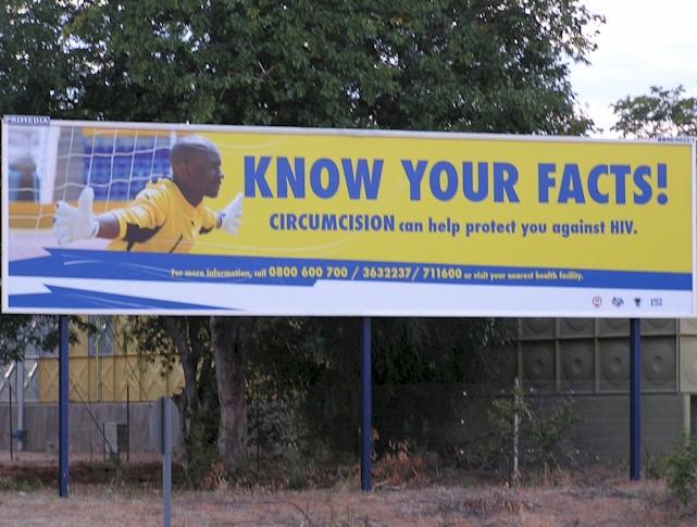 Campagne pro-circoncision au Botswana