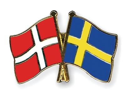 Drapeaux danois et suédois