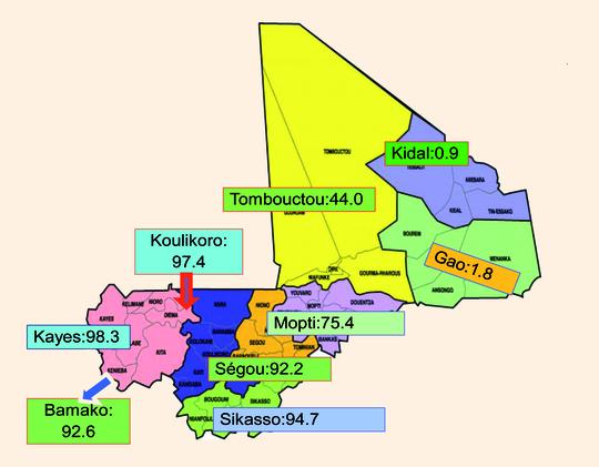 Taux de prévalence de l'excision au Mali